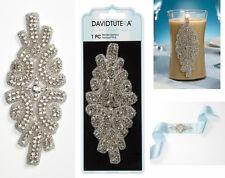 David Tutera Double Row Rhinestone Applique w/ Crystal sash headband dress ect.