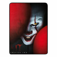 """IT Chapter 2 Pennywise the Clown Super Plush Throw Blanket 46"""" x 60"""" (117cm x"""
