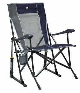 GCI Outdoor Heavy Duty Rocker Folding Chair Rocking Shocks Midnight