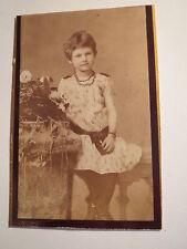Leutkirch - Linna ? Stöckle als Mädchen im Kleid - Portrait / CDV