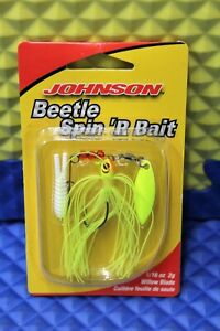 Johnson Beetle Spin 'R Bait 1/16 OZ Willow Blade BSBW1/16-CH 1293516