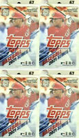 2021 Topps Series One Baseball 67ct Hanger Box Lot of 4 Boxes Factory Sealed!