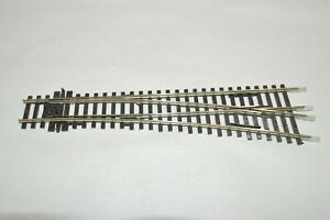 HO scale track Peco code 100 nickel silver medium radius RIGHT switch turnout