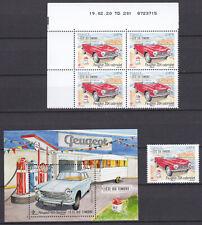 FRANCE 2020 Lot Voitures car Peugeot 204 et 404 fête du timbre MNH **