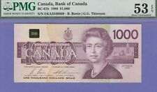 Canada 1000 Dollars Banknote,1988,About Uncirculated Grade-PMG-53-EPQ,Cat#BC-61B