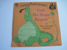 "Vintage children's Disney 45 RPM record ""Puff The Magic Dragon"" crisp! 1966"