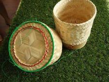 New Bamboo Basket Sticky Rice Thai Lao Kratib Steamer Handmade Cookware Kitchen