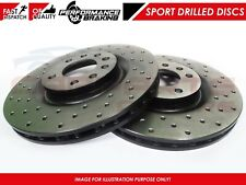 FOR AUDI A6 A7 Q7 FRONT CROSS DRILLED PERFORMANCE BRAKE DISC DISCS PAIR 375mm