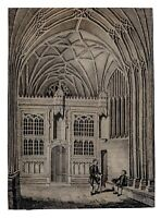 An 18th-19th Century Watercolor Painting Of A Chapel & English Royal Bloodline