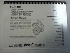 Fujifilm S9100/s9200/s9400w Printed Instruction Manual User Guide 143 Pages