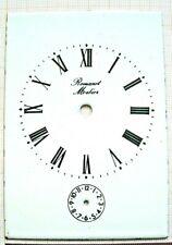 Cadran émail dial carriage voyage clock pendule officier Romanet Morbier Uhr 1