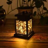 1pc Solar Lantern Hanging Light LED Yard outdoor Patio Garden Lamp Waterproof