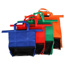 4PCS Non-woven Different Size Supermarket Hanging Shopping Trolley Storage Bag