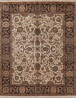 Decorative Floral Oriental Agra Area Rug Wool Hand-Knotted All-Over Carpet 8x10