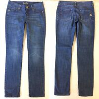 Guess Women's Jeans Size 28 Blue Distressed Stretch Denim Slim Skinny Low Rise