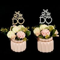 Silver Gold Rhinestone We Still Do Anniversary Vow Renewal Cake Topper DeerYu