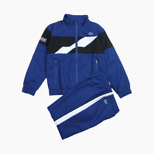 Lacoste Sport Kids Logo Shell Tracksuit Blue White Age 6 Years BNWT Childs Boys