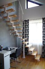 Space Saving Modular Loft Staircase, White / Alder DIXI