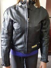 Arlen Ness Black Motor Bike Leather Jacket Womens - Size L
