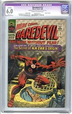 DAREDEVIL #13 (1966) CGC 6.0 (A) FN CR/OW LEE KIRBY ROMITA KA-ZAR ORIGIN MARVEL
