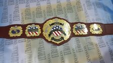 New IWGP United States Wrestling Championship Belt, Adult Size & Metal Plates