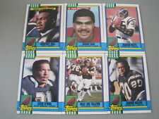 N2 Lot of 6 1990 Topps Football San Diego Chargers Team Set Junior Seau RC