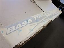 """BASS TRACKER STARBOARD DECAL BLACK / WHITE / SILVER 97 5/8"""" X 10 7/8"""" BOAT"""