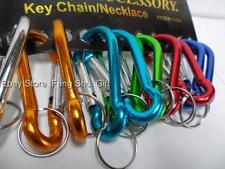 12 x  Wholesale Lot Set Carabiner Aluminum Key Chain Ring Holder Party Favor #AS