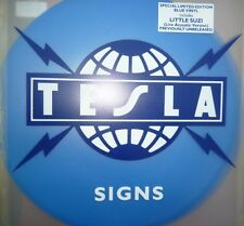 Tesla - Signs - 12 inch Maxi - Blue Vinyl - Limited Edition