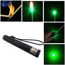New 5 Mile Range 532nm 8000M Green Laser Pointer Pen Fescue Pen Clip Star Cap