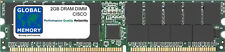 2gb dram dimm Memoria para Cisco Carrier Routing Sistema 1 (CRS-1) (CRS-MEM-2G)
