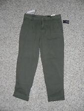 Buffalo Crop Pants Olive Green Size 25 Hope Low Crotch Carrot Leg Womens NWT $69