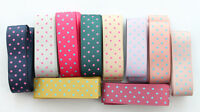 10 Meters Mixed colour dotted design 25mm satin ribbon #22775