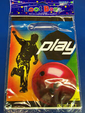 Play Bowling Sports Birthday Party Favor Sacks Treat Plastic Cello Loot Bags *