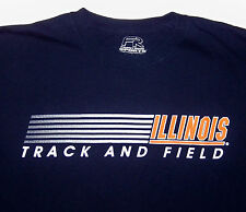 ILLINOIS / TRACK AND FIELD / FRONT ROW SPORTS / DARK BLUE ADULT T-SHIRT SIZE M