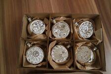 Silberne Reflexkugeln 6 cm  nostalgischer Christbaumschmuck Lauscha, Handarbeit