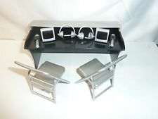 WWE COMMENTATORS PLAYSET SILVER WRESTLING FIGURE ACCESSORY TOY CHAIRS MATTEL TNA