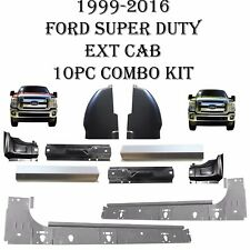99 16 10PC Inner & Outer Rockers, Cab Corner, Jamb Ford Super Duty Extended Cab