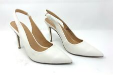 Material Girl Darcie Slingback Pump Size 8.5 Womens Shoes - White