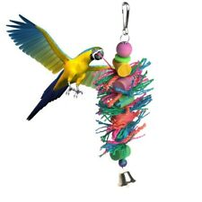 Bird Toys Swing Hanging In Bird Cage Wood Chew Cylinder Rope Toys for Parrots