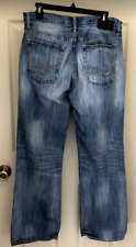 RECLAIM by Buckle Men's Denim Blue Jeans Distressed Relaxed Boot Cut 34 x 32