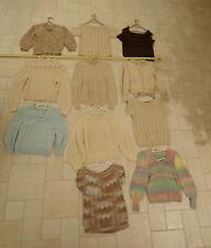 Lot Of ten hand knit sweaters Vintage