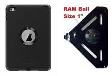 "SlipGrip RAM 1"" Ball Mount For iPad Mini 4 Tablet Using OtterBox Defender Case"