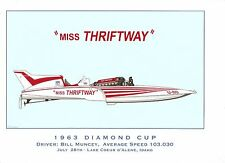 1963 Miss Thriftway Diamond Cup Champion ~ Hydroplane Art Print - by R.J. Tully