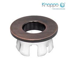 KNOPPO® Waschbecken Messing Abdeckung,Metall Überlaufblende - Eye Copper brushed