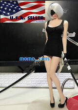 """1/6 Sexy Mini Black Dress For 12"""" PHICEN Hot Toys VERYCOOL Female Figure ❶USA❶"""