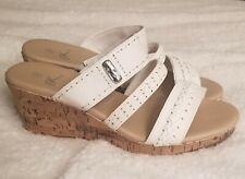It's Ok White Cadeau Wedge Sandales Size 7M