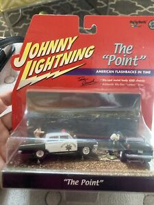 Johnny Lightning The Point 1963 Ford Galaxie CHP 1955 Chevy Hot Rod 1:64