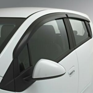New Holden Barina Spark 2011 - 2015 Slim Line Window Air Deflector Set 96688232