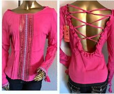 New Fashion Women's PINK TOP---L----CUTE!!